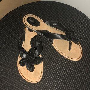 BOC Born black floral sandals